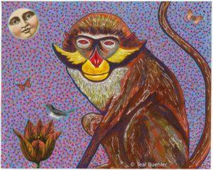 Red Eared Monkey